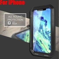 For IPHONE 11 Pro Max XS XR 8 7 6 PLUS 5SE Lovemei Aluminum Metal + Gorilla Glass Shock Drop Waterproof case for iPhone8 IPX04
