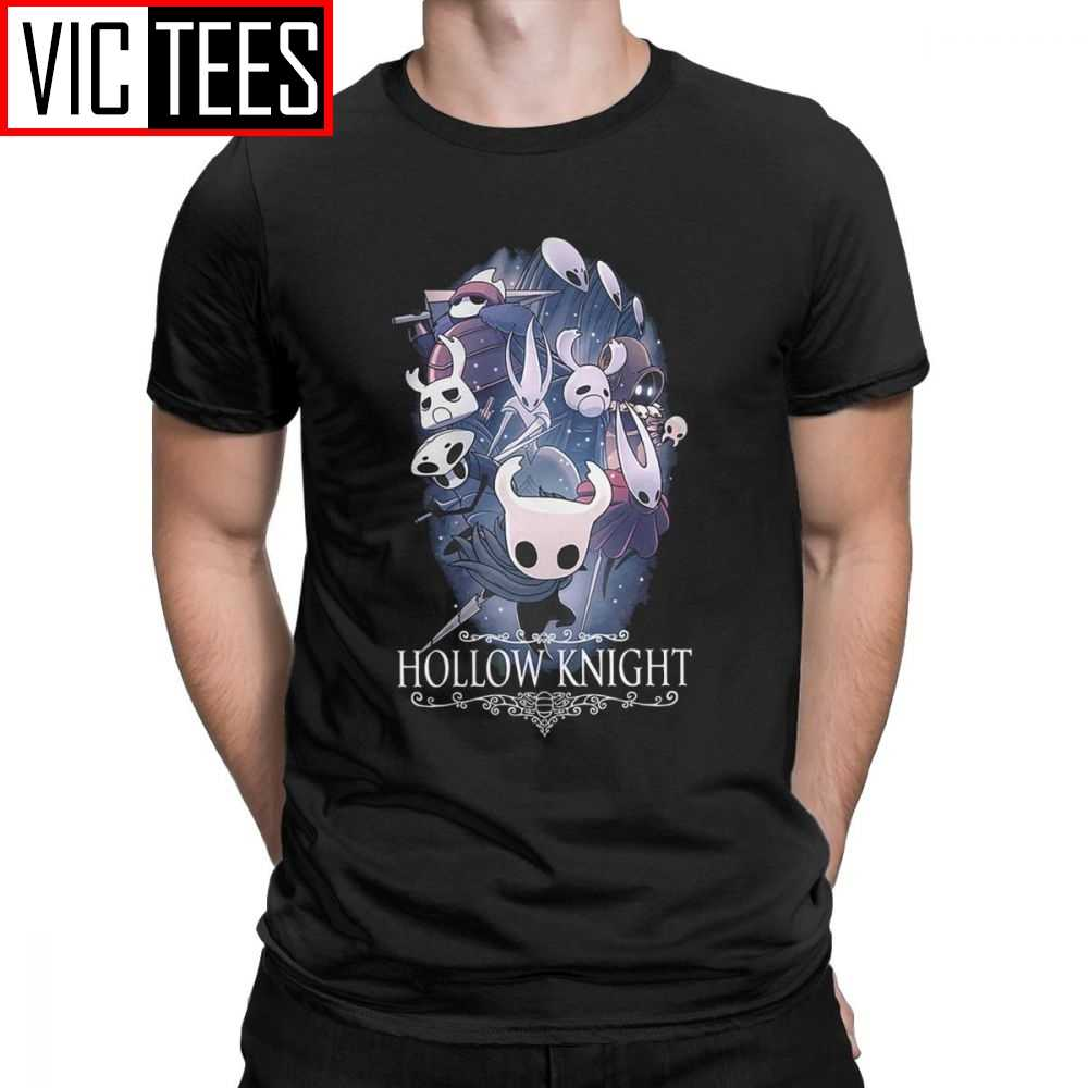 Hollow Cavaliere Degli Uomini Della Maglietta Del Cranio Video Gioco Vintage Tee Shirt Manica Corta Girocollo T-Shirt 100 Cotone Premium Del Partito felpa