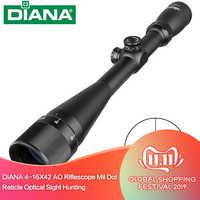 Diana tático 4-16x42 ao riflescope mil dot retículo mira óptica caça rifle escopo