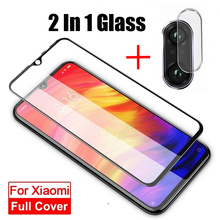 2 in 1 Tempered Glass Screen Protector For Xiaomi Redmi Note 7 5 Pro Camera Lens Film 7A 6 6A 4X