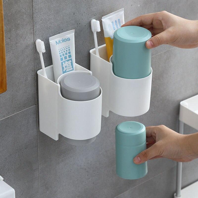 磁気歯ブラシホルダー吸着タイプ反転歯磨き粉ディスペンサー壁は化粧収納ラック浴室用accesso 歯ブラシ & 歯磨き粉ホルダー    - AliExpress