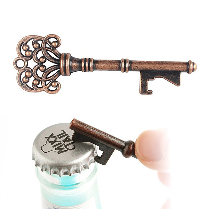 5 Styles Bottle Opener Key For Decoration Wedding Souvenir Vintage Style Pendant Easy Open Beer Can Opener Kichen Accessories
