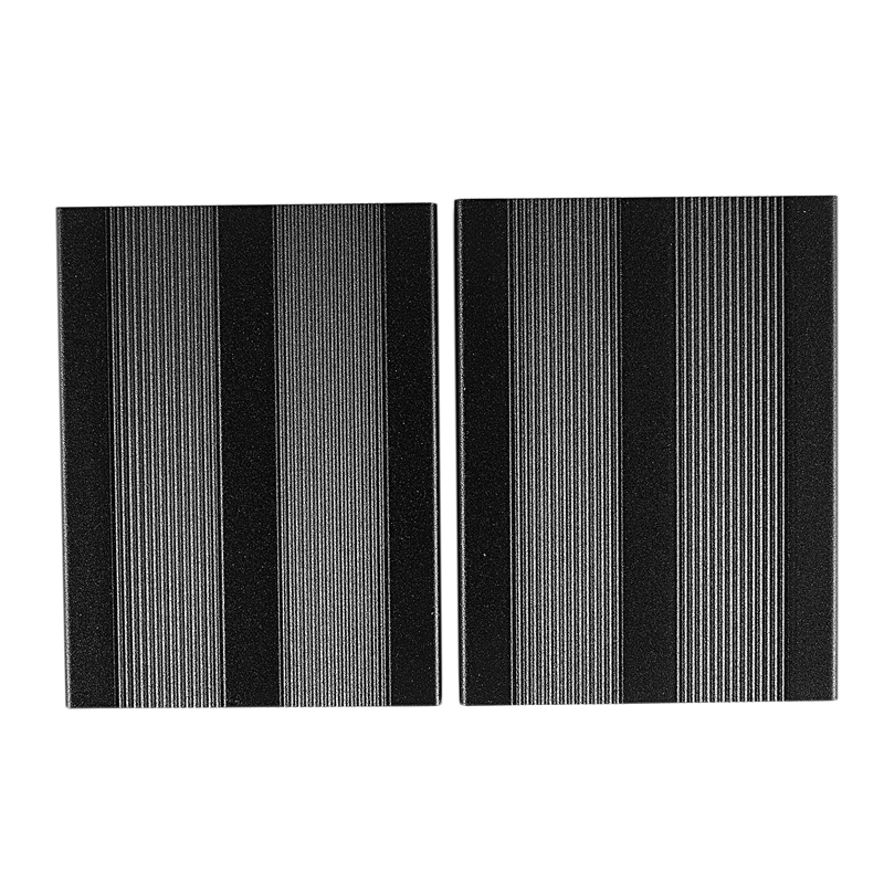 DIY Aluminum Electronic Box Project Enclousure Case for Digital Amplifier and Portable Headphone Black
