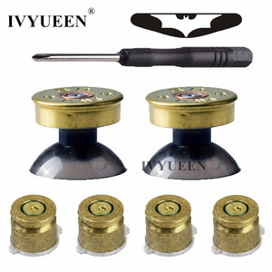 Image 1 - IVYUEEN Brass Bullet Buttons Mod Kit For Sony Dualshock 4 PS4 DS4 Pro Slim Controller Analog Thumb Sticks Cap with Action Button
