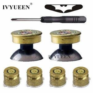 Image 1 - Ivyueen 真鍮弾丸ボタン mod キットデュアルショック 4 PS4 と DS4 プロスリムコントローラアナログ親指スティックキャップアクションボタン