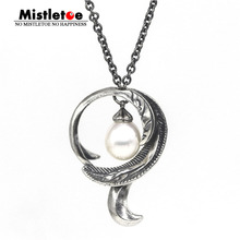 Charm Necklace Jewelry Feather-Pendant 925-Sterling-Silver European Without Beadance