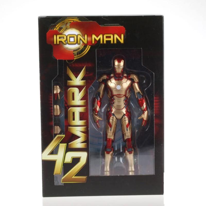 Marvel Iron Man 3 The Avengers 2 IRON MAN Iron Man Tony Stark dessin animé jouet modèle PVC figurine modèle jouets pour enfants cadeau