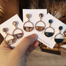 2019 New Fashion Acrylic Earrings Statement Jewelry Round Geometric Drop Earrings Circle Stone Earrings For Women irregularity circle geometric beads drop earrings