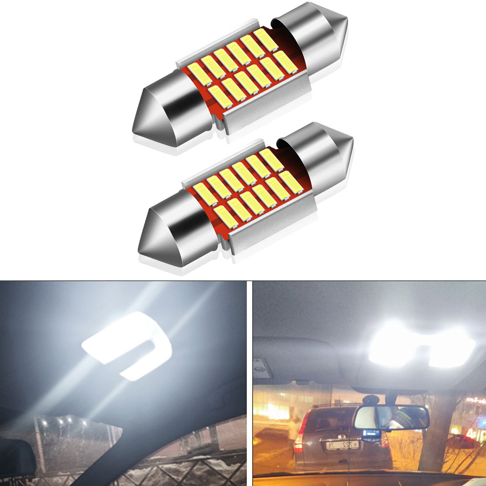 2x 31mm Festoon C5W LED Canbus Bulb Car Interior Dome Light <font><b>Lamp</b></font> For <font><b>Lexus</b></font> LX450 LX470 LX570 <font><b>RX300</b></font> ES250 ES300 ES350 GX460 GX470 image