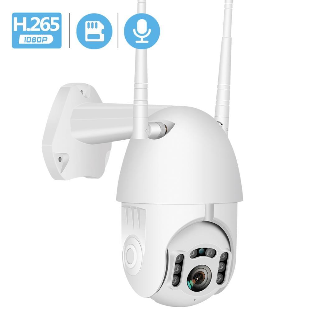 Wifi Outdoor Waterproof PTZ Camera H.265 1080P Speed Dome ONVIF Wireless Camera Two Way Audio Home Surveillance IP Camera