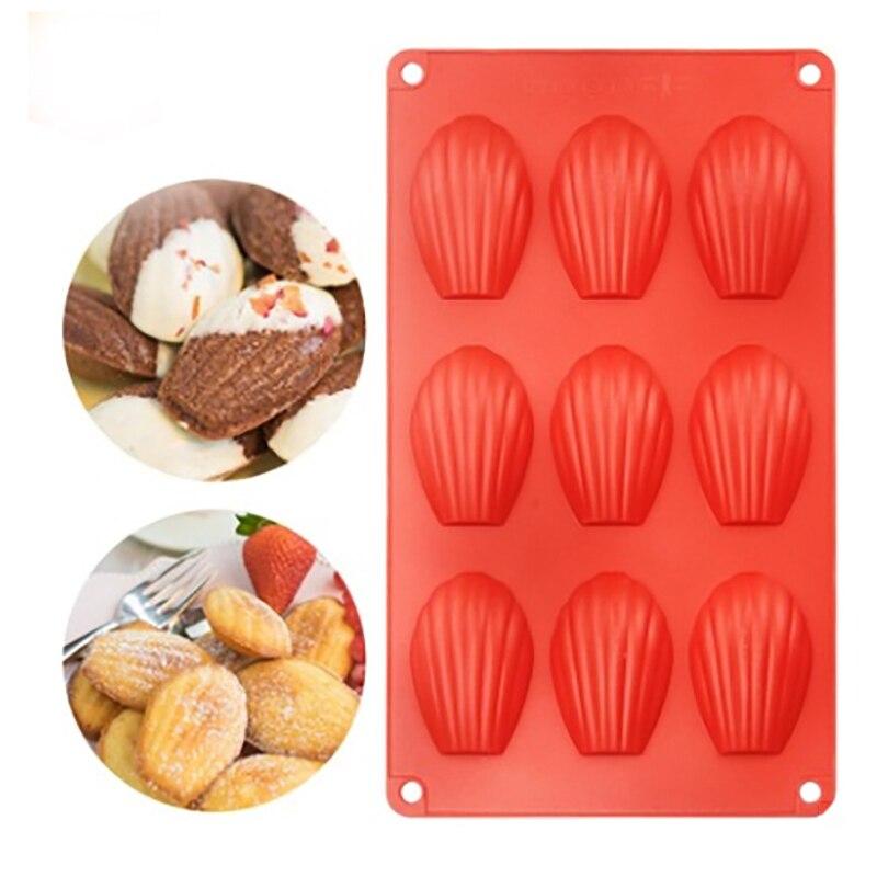 9 даже Мадлен Shell для выпечки торта прессформы Еда Класс силиконовый шоколадный бисквит кухонная форма для самостоятельной готовки инструм...