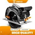 DEKO 1600 Вт циркулярная пила, электроинструменты высокой мощности с лезвием, многофункциональный станок для резки пыли