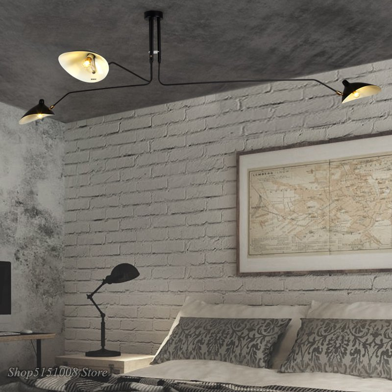 Serge Mouille Pendant Lights Lamp Luminaire Hanglamp Spider Home Decor Light Fixtures For Dining Room Kitchen Bar Lighting DaWn