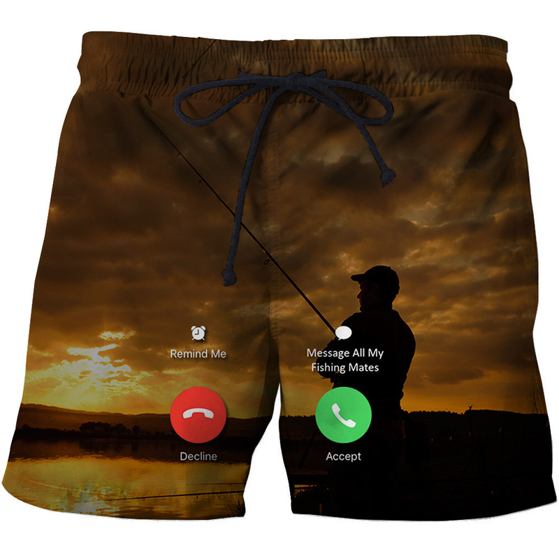Men's Beachwear Cool Board Shorts Quick Dry 3D Print Fish Watersport Swim Trunks Summer Beach Shorts S - 6XL 2020
