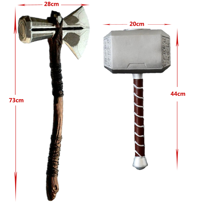 1:1 Thor Axe Hammer Cosplay Weapons Movie Role Playing Thor Thunder Hammer Axe Stormbreaker 73cm 44cm