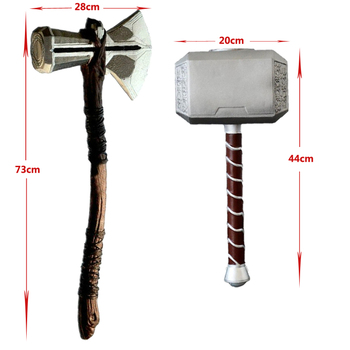 1:1 Thor Axe Hammer Cosplay Weapons Movie Role Playing Thor Thunder Hammer Axe Stormbreaker 73cm 44cm avengers weapon superhero thor hammer full metal 1 1 mjolnir cosplay hammer thor odinson quake martillo collection model toy