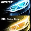 2 шт. автомобиля светодиодный DRL лампы светодиодные ленты Автомобильные фары дневного света светильник 12V сигнала поворота светильник гибки...
