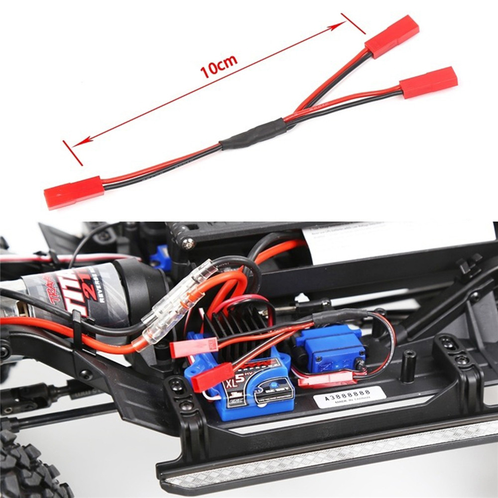 Y Cable 2 in 1 ESC Power Supply External Wiring For 1/10 Traxxas Trx4 Defender RC Crawler Car Parts