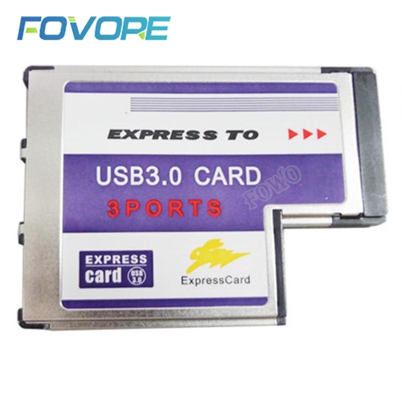Лидер продаж, высокое качество, 3 порта, скрытый внутри, USB 3,0, USB3.0 до Expresscard, экспресс-карта, 54 мм, адаптер, конвертер