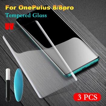 Перейти на Алиэкспресс и купить Закаленное УФ-стекло Arvin для OnePlus 8 Pro, Защита экрана для OnePlus 8 8Pro, полное покрытие, пленка для экрана