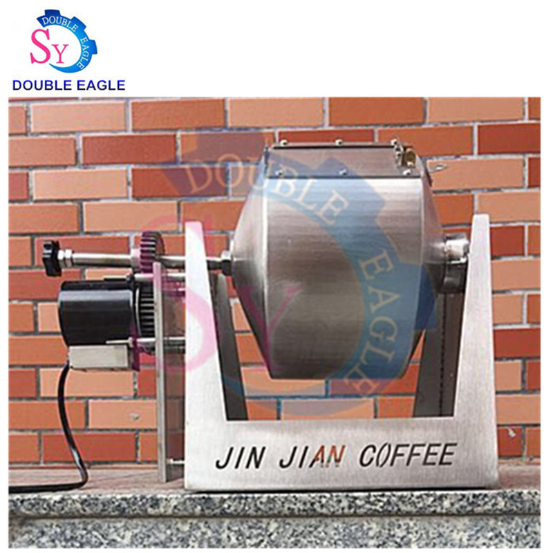 Household mini gas rotation stainless steel 3.4L roasted cargo roasting machine Coffee beans Nuts Pepper Soybeans coco Roaster(China)