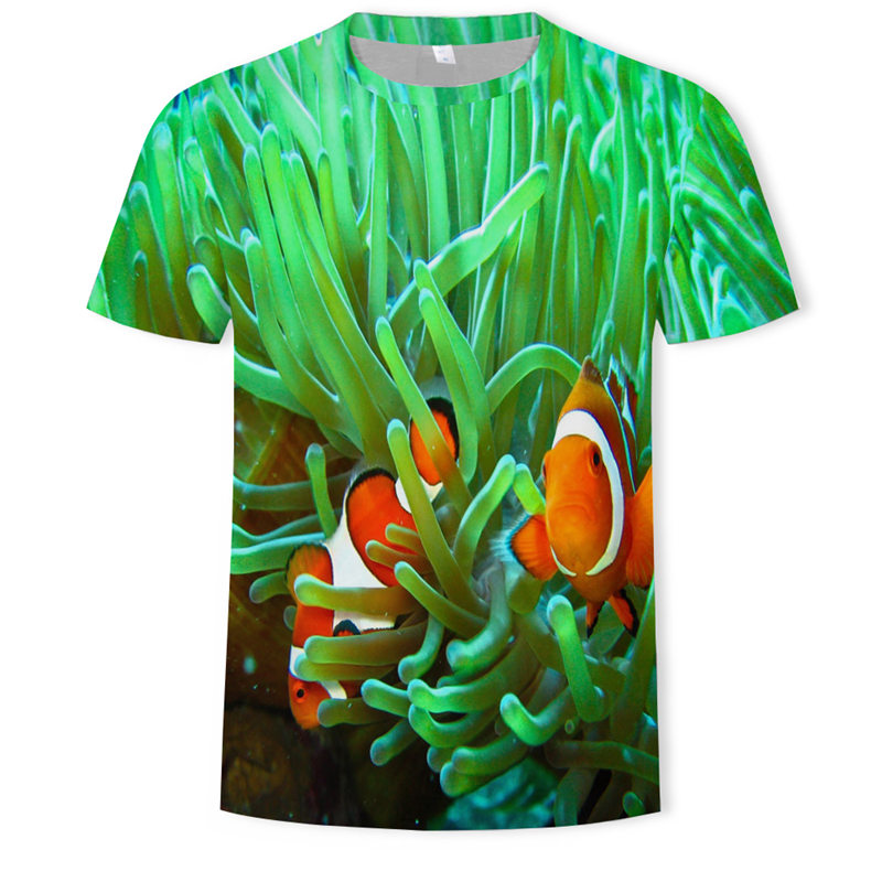 Summer Battle Tropical Fish T Shirt 3d Casual Printed Men Short Tops T Shirts Men Clothes 2019 Streetwear Harajuku Funny Shirt