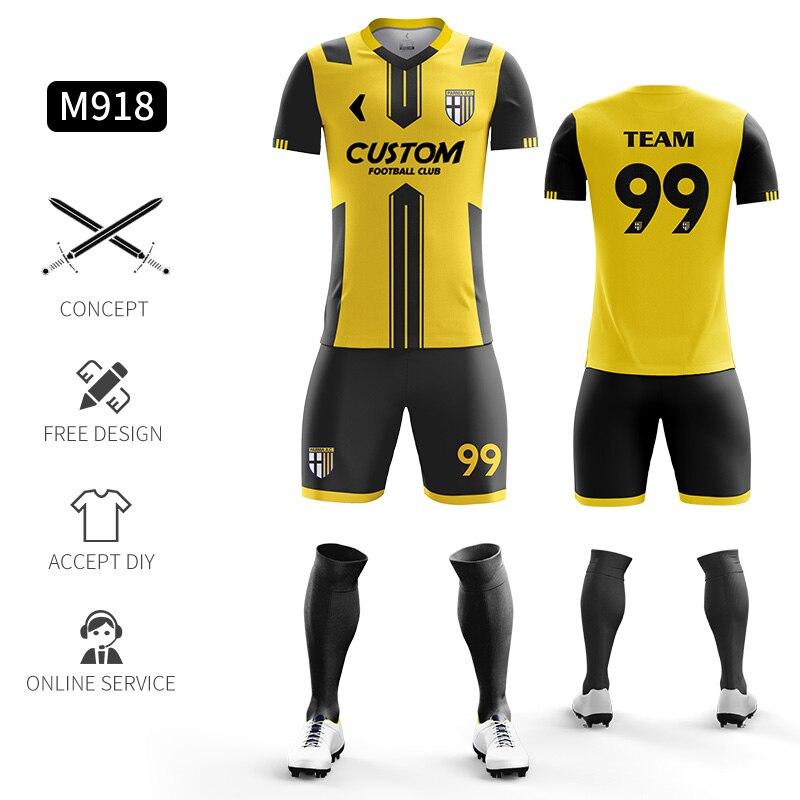 Custom Football Jerseys Full Sublimation Printing Soccer Jerseys Club Team Football Training Uniform Suit Soccer Uniform For Men 17