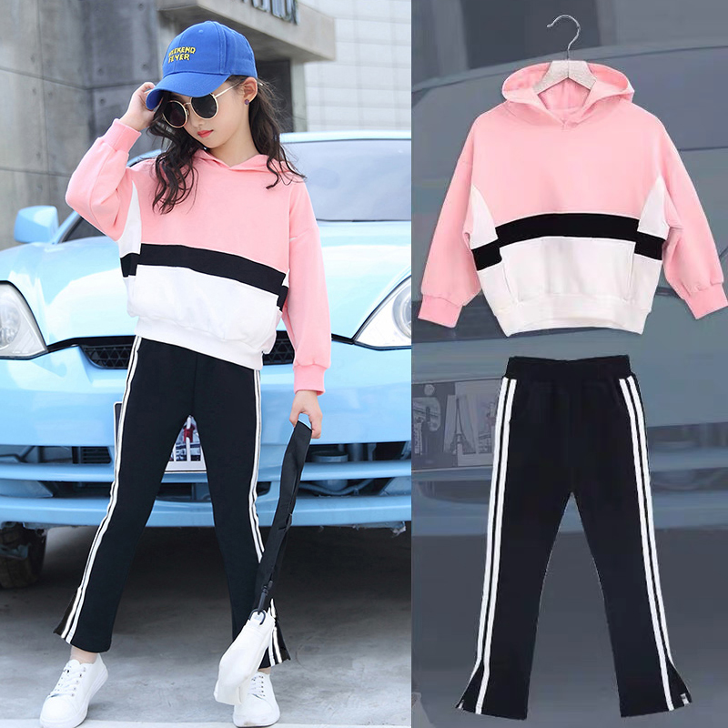 Girls Clothes Sets Autumn Children's Clothing Set Sweatshirt + Pants Two-piece Casual Kids Sport Suits Teenage 6 8 9 10 12 Years