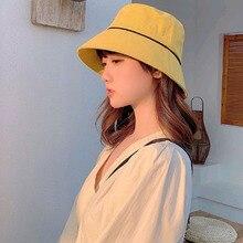 Spring Summer Leisure Fisherman Hat Woman Korean Fashion Visor Hats Foldable Sunscreen Sun Hat Big Brim Cap Female Bucket Hat