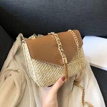 Fransen Kette Kleine Klappe Taschen Für Frauen 2020 Mode Stroh Umhängetaschen Damen Sommer Messenger Schulter Handtaschen Dropshipping