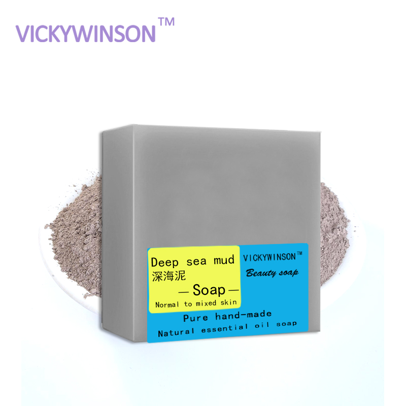 VICKYWINSON Dead Sea Mud Soap Deep Cleasing Facial Cleansing Soap Best Soap Removing Dark Spots Oil Control Soap 100g