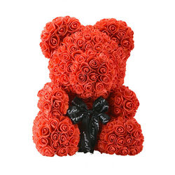 DIY 25/40 cm Teddy Rose Bear Without Box Artificial PE Flower Bear Rose Valentine's Day For Girlfriend Wife Mother's Day Gifts