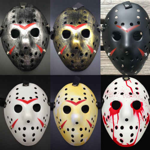 2019 Hot Friday The 13th Film Horor Myers Jason Vs Freddy Kostum Prop Topeng Hoki Menakutkan Halloween Mask