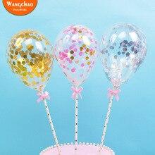 """5 шт./лот, 5 дюймов, латексный воздушный шар """"Конфетти"""", топперы для торта на день рождения, вечеринку, топпер для торта, свадьба, детский душ, украшения для торта"""