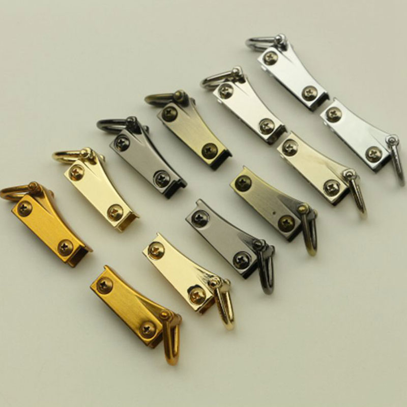 2 Side Metal Clip Hardware Clasp For DIY Purse Making Bag Replacement Gold Handbag Shoulder Bag Accessories 6 Colors Fermoir Sac