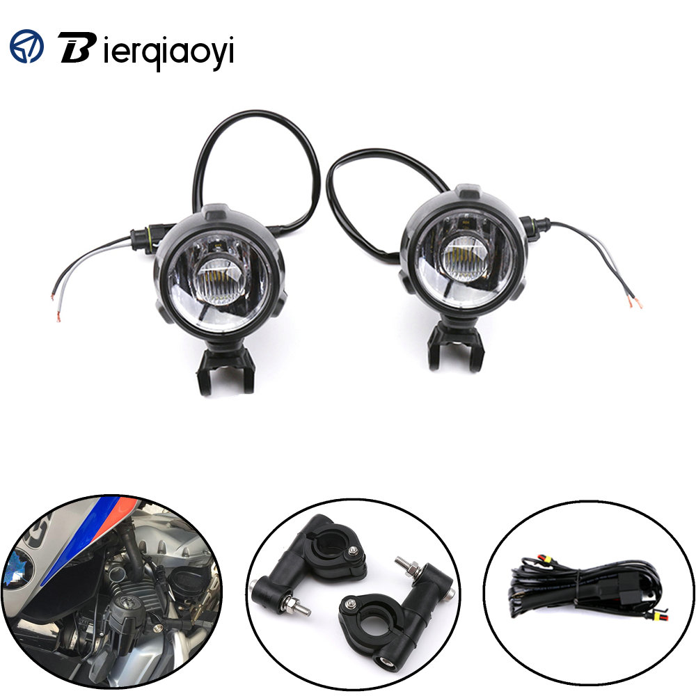 Motorcycle Accessories for BMW R1200GS F800 GS1200 LED Headlights Spotlights Fog Lights Driving Lamp Waterproof Super Bright image