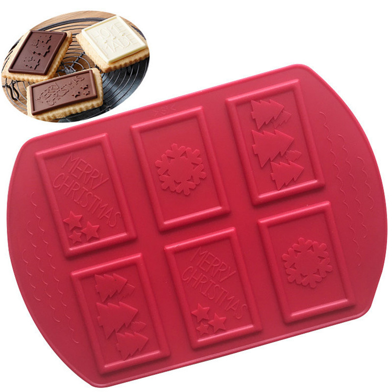 Snowflake christmas tree Chocolate chip cookie mould Fondant cake decoration tool Silicone mold kitchen accessories
