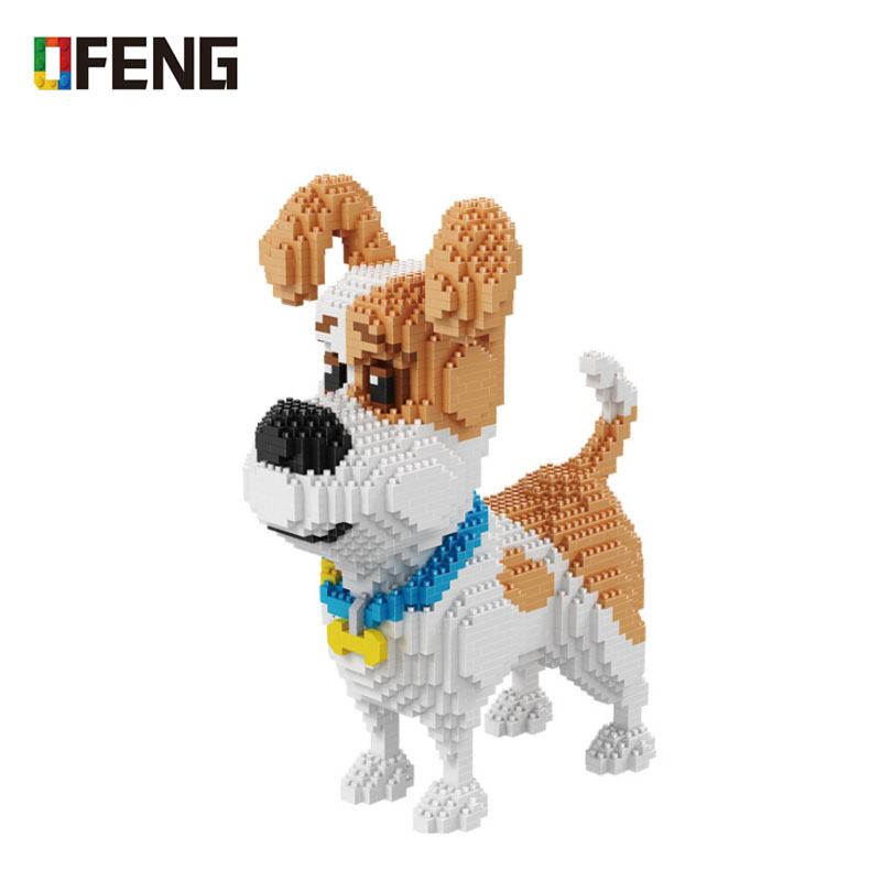 Balody Pet Dog Animal 3D Model DIY Micro Diamond Mini Building  Cartoon Bricks Assembly Toy Gift For Children 16013