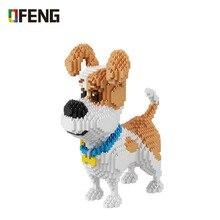 Balody Pet köpek hayvan 3D modeli DIY mikro elmas Mini bina karikatür tuğla montaj oyuncak hediye çocuklar için 16013