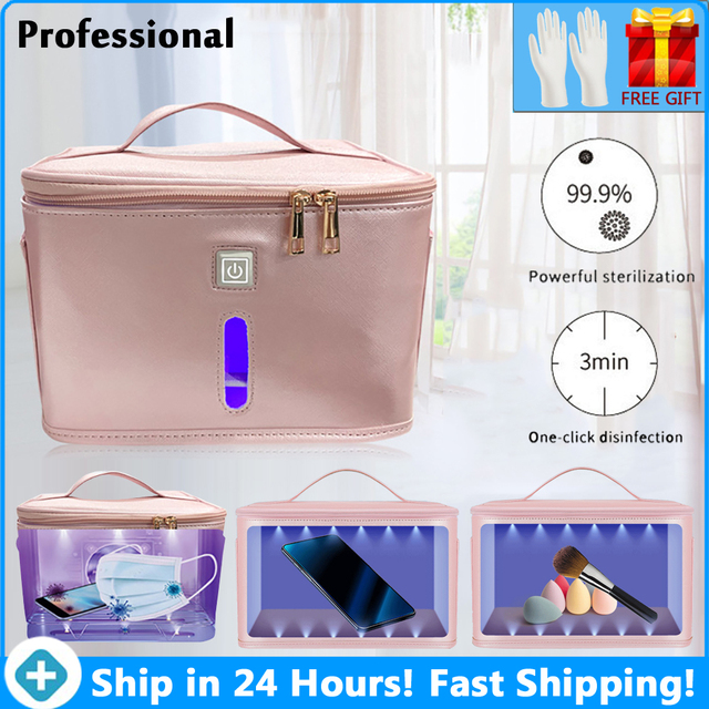 59 Seconds Disinfection Kit Household Small Clothes Sterilization Bag Mobile Phone Mask Sterilizer Box LED UVC Disinfection Lamp