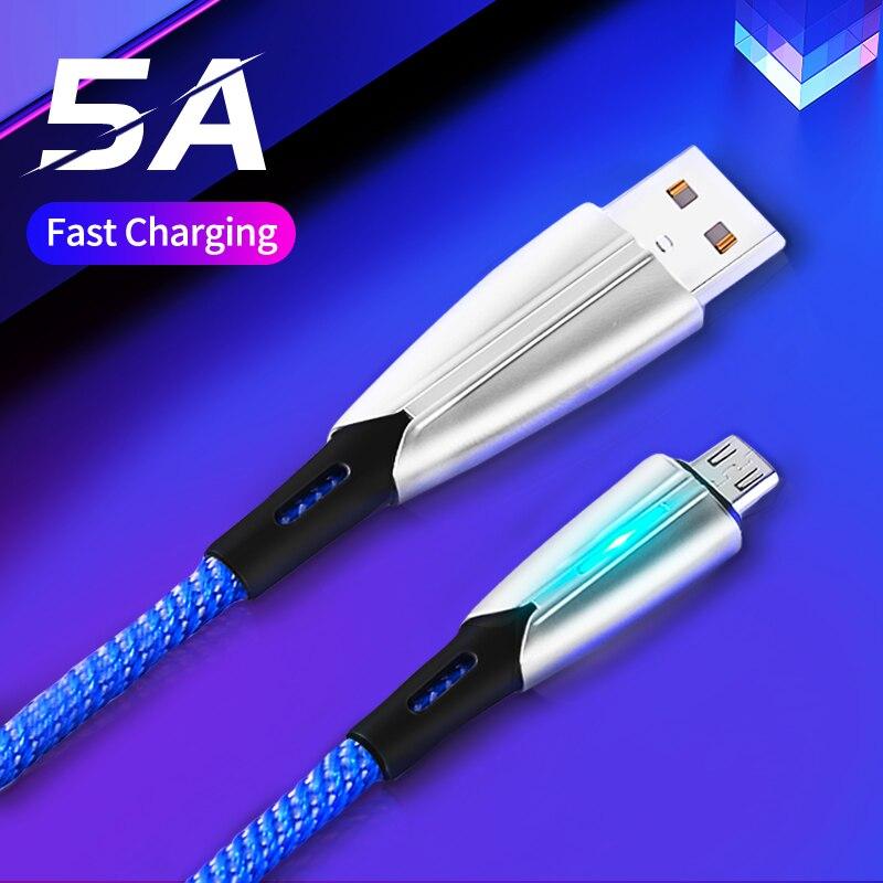 Micro USB C Type C кабель Быстрая зарядка через USB кабель 5A кабель для передачи данных для Samsung S20 Xiaomi Huawei P30 Pro мобильный телефон кабель для зарядки