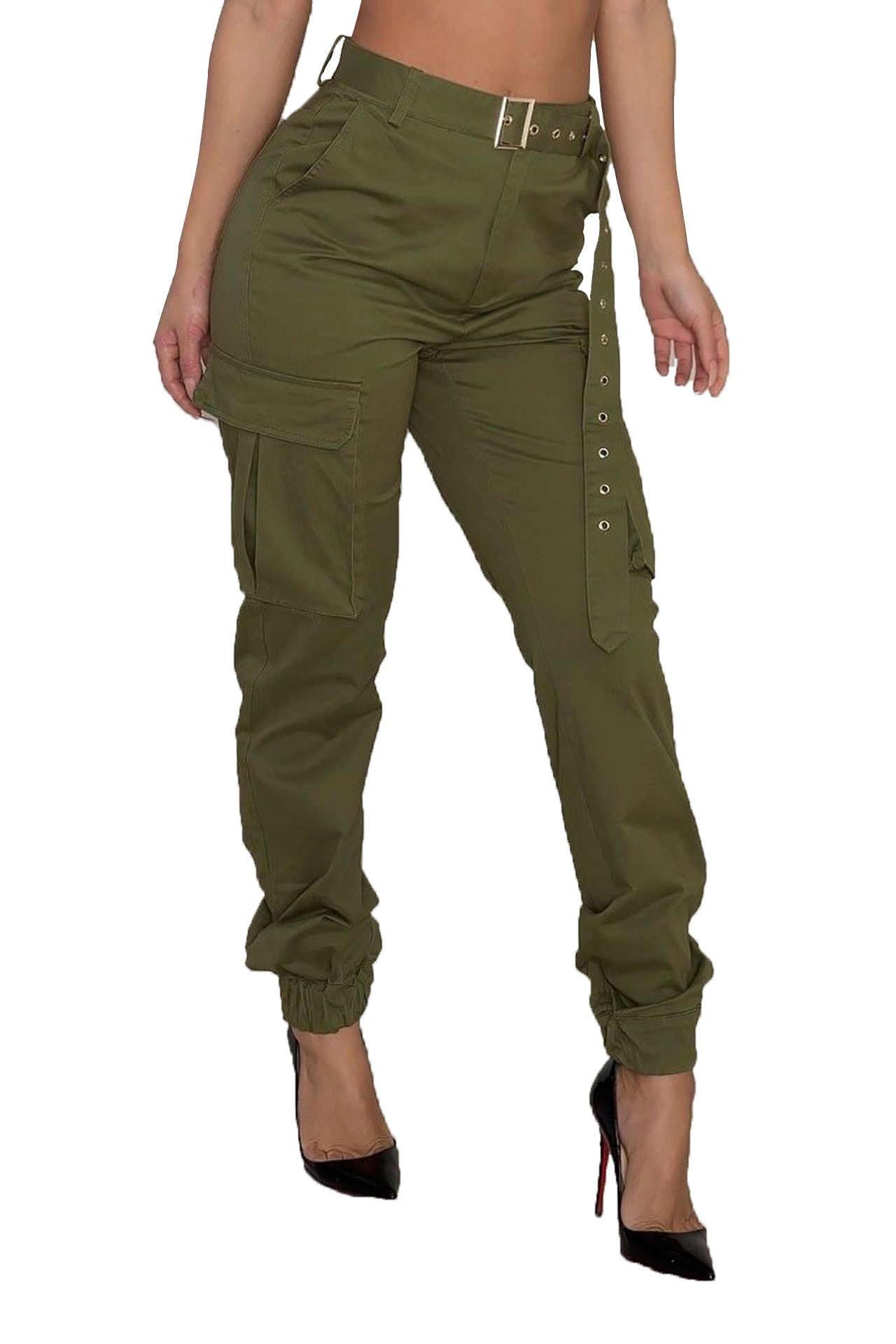 Yüksek bel pantolon kamuflaj gevşek joggers kadınlar ordu harem kamuflajlı pantolon streetwear punk siyah kargo pantolon kadın kapriler pantolon