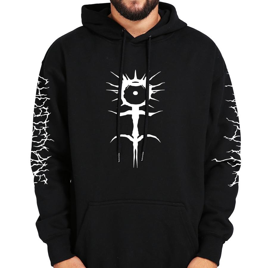Ghostemane Hoodies Mercury Retrograde Image Printed Sweatshirt Black Long Sleeve Velvet Warm Soft Hooded