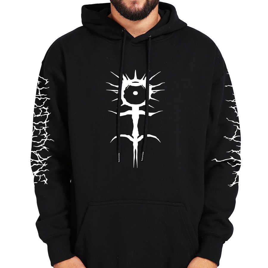 Ghostemane Hoodies Mercury retrograd görüntü baskılı kazak siyah uzun kollu kadife sıcak yumuşak kapşonlu