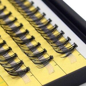 Image 5 - Kimcci 60 demetleri vizon kirpik uzatma doğal 3D rus hacmi sahte kirpik bireysel 20D küme Lashes makyaj Cilia