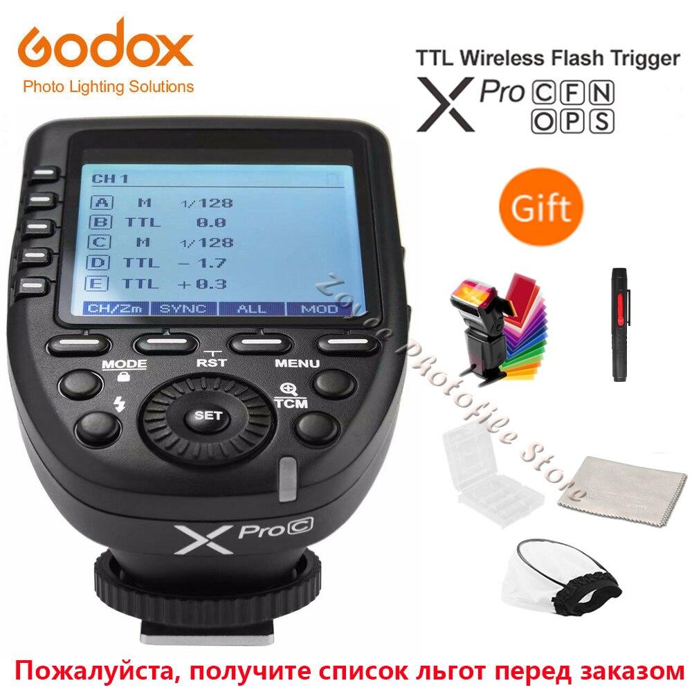 Godox Xpro C/N/S/s/F/P 2,4G TTL флэш Беспроводной триггера передатчика Беспроводная система X вспышка для фотокамер Speedlite HSS 1/8000S для цифровой зеркальной камеры Canon Nikon Sony Olympus Fuji Пульты и триггеры      АлиЭкспресс
