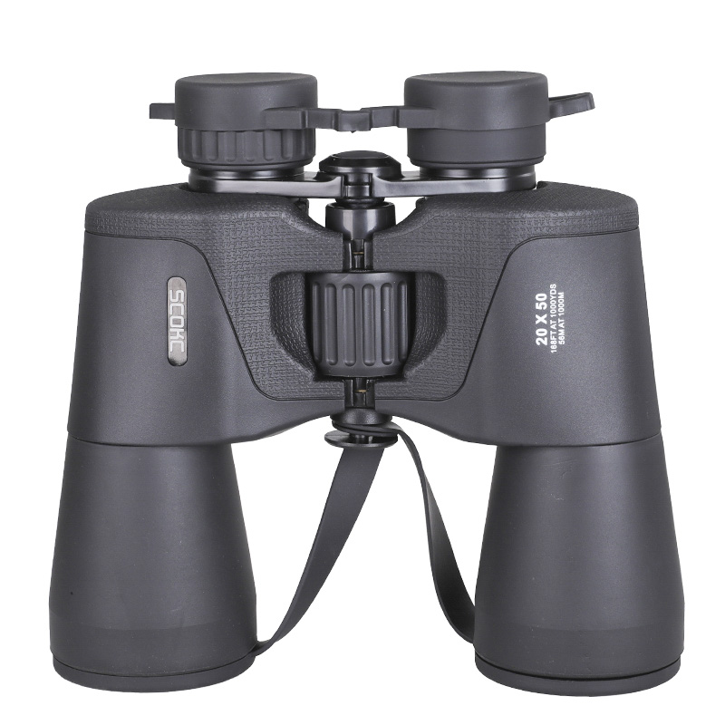 SCOKC Hd 10x50 20X50 powerful Binoculars BAK4 telescope for hunting professional high quality no Infrared army Low night vision