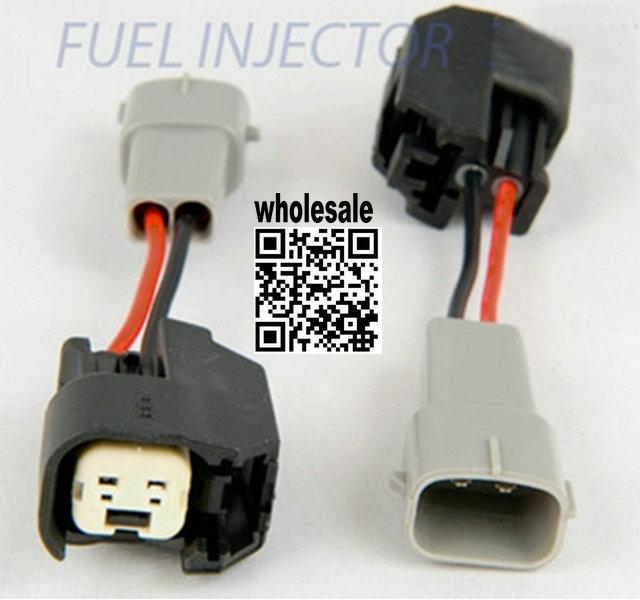 Longyue 10pcs EV6 Female To Toyota Male Fuel Injector Clinic Plug Adaptors