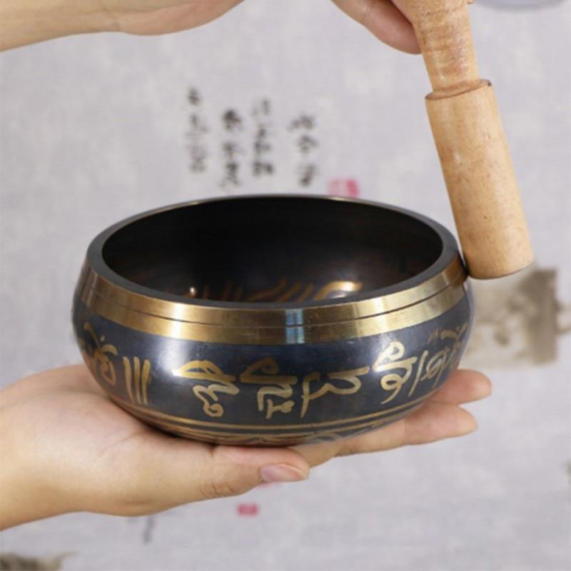 Тибетская Поющая чаша для дома, буддизм, Йога, Поющая чаша для медитаций Непал, медная чаша uddha со звуком, украшение для дома|Миски и тарелки| | АлиЭкспресс