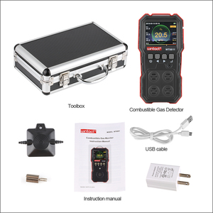 Image 4 - RZ compud 가스 모니터 LCD 디스플레이 충전식 다기능 4 in1 가연성 O2 H2S CO 가스 센서 사운드 라이트 진동 알람